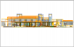Elevation detail in plan view dwg file