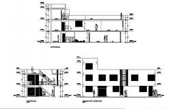 Elevation drawing of 2 storey building in AutoCAD