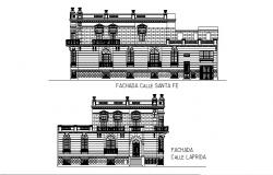 Elevation drawing of building in AutoCAD file