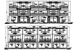 Elevation drawing of the apartment in AutoCAD