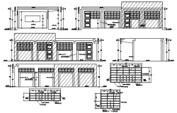 Elevation drawing of the classroom in AutoCAD