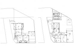 Elevation drawing of the house design in dwg file