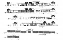 Elevation drawings of institute