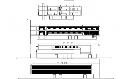 Elevation exhibition museum plan detail dwg file