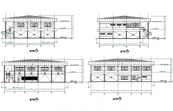 Elevation factory and canteen plan detail