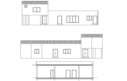 Elevation family house autocad file