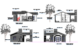 Elevation family house plan layout file