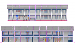 Elevation high school reconstruction autocad file