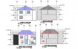 Elevation home plan autocad file