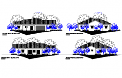 Elevation house detail autocad file