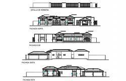 Elevation house detail dwg file