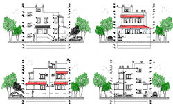 Elevation house layout file