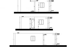 Elevation house plan autocad file