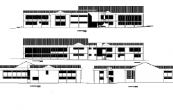 Elevation library plan autocad file