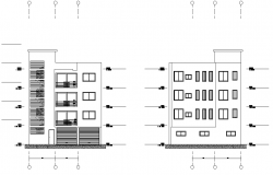 Elevation living place plan layout file