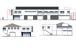 Elevation market plan dwg file