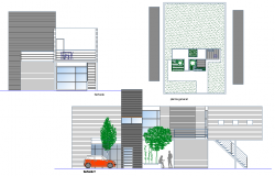 Elevation modern house layout file