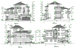 Elevation multi family housing layout file