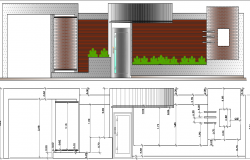 Elevation of Single Family House Architecture Design dwg file
