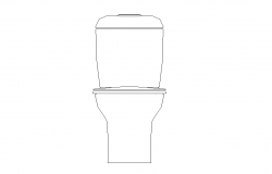 Elevation of Sitting sanitary toilet 2d view layout file