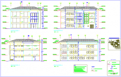 Elevation of biotechnology university dwg file