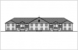 Elevation of bungalows dwg file