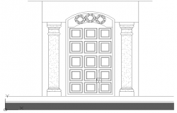 Elevation of door .