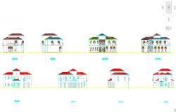 Elevation of exteriors of a house