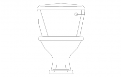 Elevation of sanitary sitting toilet CAD block 2d view layout file
