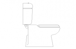 Elevation of sanitary toilet detail CAD block 2d view layout autocad file