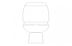Elevation of sitting toilet 2d view layout autocad file