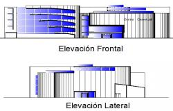 Elevation office building plan detail dwg file