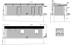 Elevation office plan detail