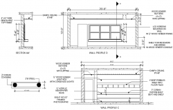 Elevation office plan detail dwg file