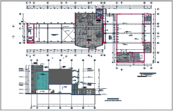 Elevation plan and center line plan detail dwg file