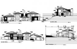 Elevation plan detail dwg file