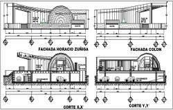 "Elevation plan detail in center line plan, level plan 0'00"" level in 10'00"" in building plan detail with dimension detail dwg file"