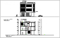 "Elevation plan detail in level plan 0'00"" level in 10'00"" in building plan detail with dimension detail dwg file"