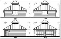 Elevation plan view details dwg file