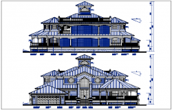Elevation plan with dimension view detail dwg file