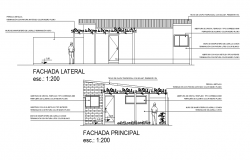 Elevation single family home plan detail
