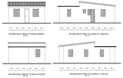 Elevation single family house plan detail dwg file