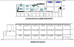 Elevation textile factory plan detail dwg file