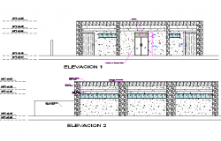 Elevation toilet detail dwg file