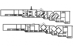 Elevation tolohouse plan detail dwg file