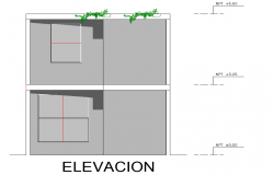 Elevation unifamily housing detail dwg file