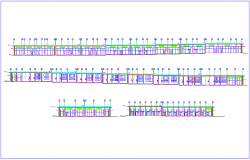 Elevation view of building A design view dwg file