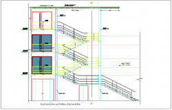 Elevation view of building dwg file