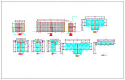 Elevation view of door and dimension view dwg file
