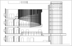 Elevation view of house design with floor view dwg file